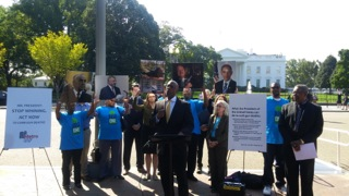 Across from The White House Taking Action against Gun Violence
