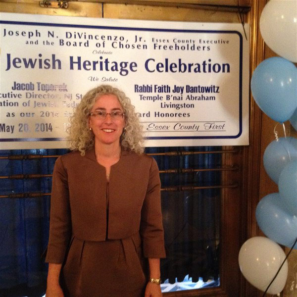 Rabbi Faith Joy Dantowitz…Star of Essex Award Recipient