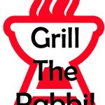 grill the rabbi logo red and black