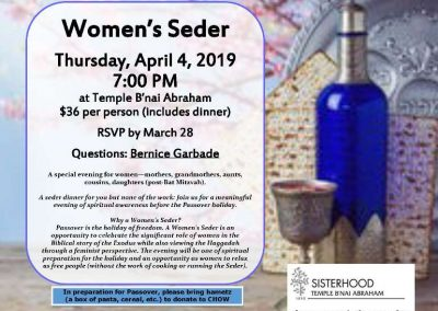 Rosh Hodesh 4-4-19 Womens Sederweb