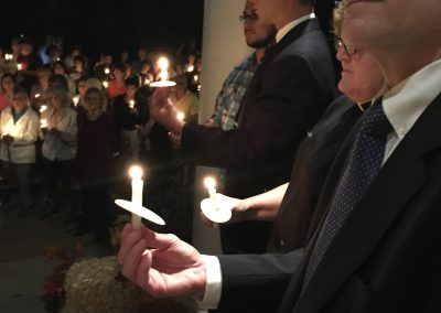 vigil against hate clergycandlelight