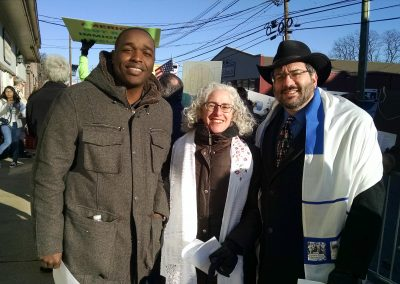 Archange Antoine, Exec Director of Faith in New Jersey, FJD, Rabbi Joel Abraham (Temple Sholom, Scotch Plains)
