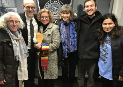On being release at the westfield police staiton FJD, Rabbi Elliott Tepperman, B'nai Keshet Montclair, Rev. Ann Ralosky, First Congregational Church M