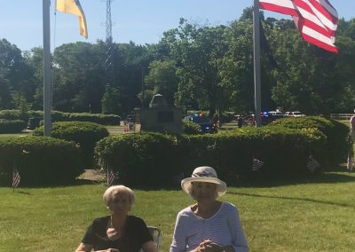 Marilyn Rosenbaum and Evi Meinhardt in attendance Memorial Day.