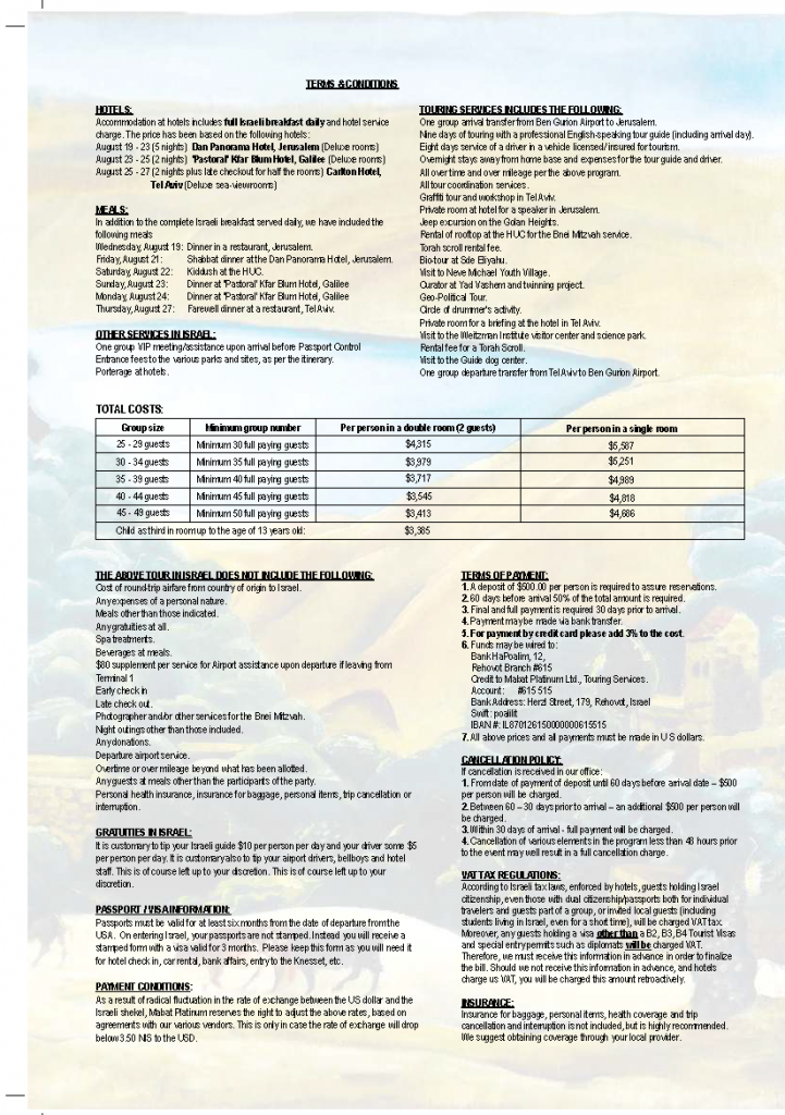 TBA brochure tearms and conditions