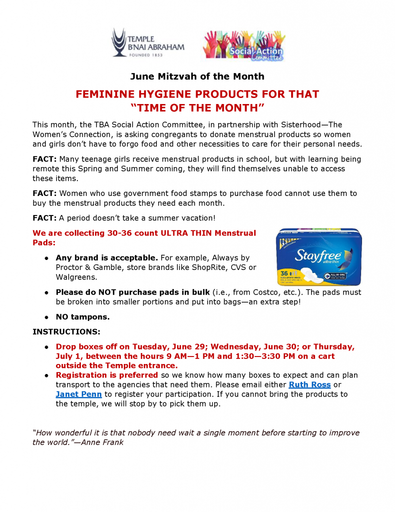 MITZVAH OF THE MONTH June 2021 FINAL